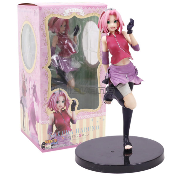 Pink Naruto Sakura Figure in Box